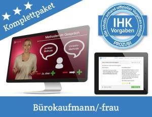 Mit Prozubi kannst Du Dich auf die IHK-Prüfung vorbereiten, jetzt Dein Lernpaket für die Abschlussprüfung zur Bürokauffrau/ zum Bürokaufmann kaufen und online lernen!