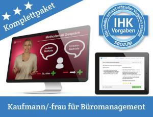 Mit Prozubi kannst Du Dich auf die IHK-Prüfung vorbereiten, jetzt Dein Lernpaket für die Abschlussprüfung zur Kauffrau für Büromanagement/ zum Kaufmann für Büromanagement kaufen und online lernen!